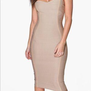 Bandeau Bandage Midi Bodycon Dress